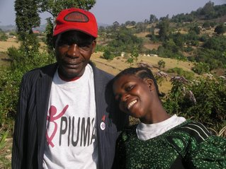 Wema Sanga and Kabuyu Kyando, leaders of PIUMA. Photo by Rainer Brandl