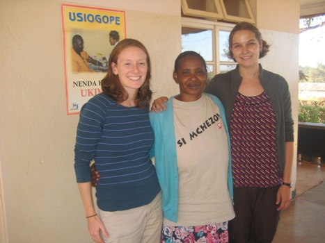 Jacquie Bocking, Betty Liduke (Director, TANWAT CTC and Coordinator of Highlands Hope of Tanzania), and Andra Leimanis