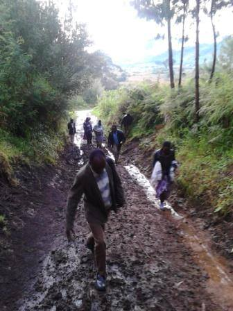 The last kilometers to Makete schools in rainy season